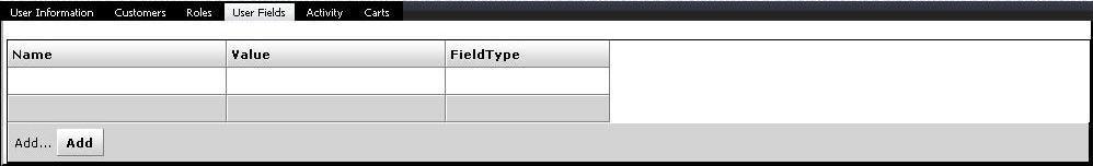 Enterprise User Fields Screen